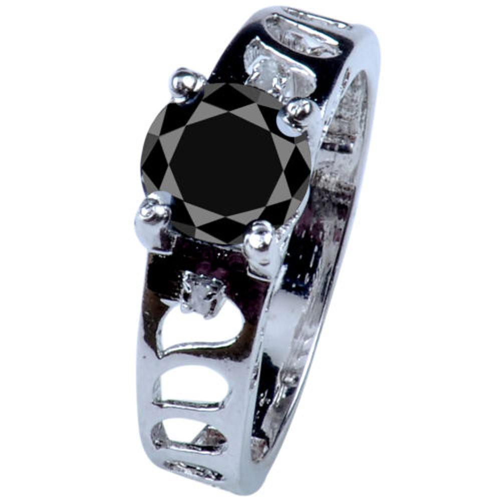 Cincin Black Moissanite + Perak 925  CgHy666