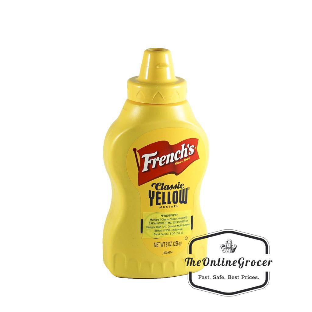 French S Classic Yellow Mustard Sauce Saus Mustard 226gr Shopee Indonesia