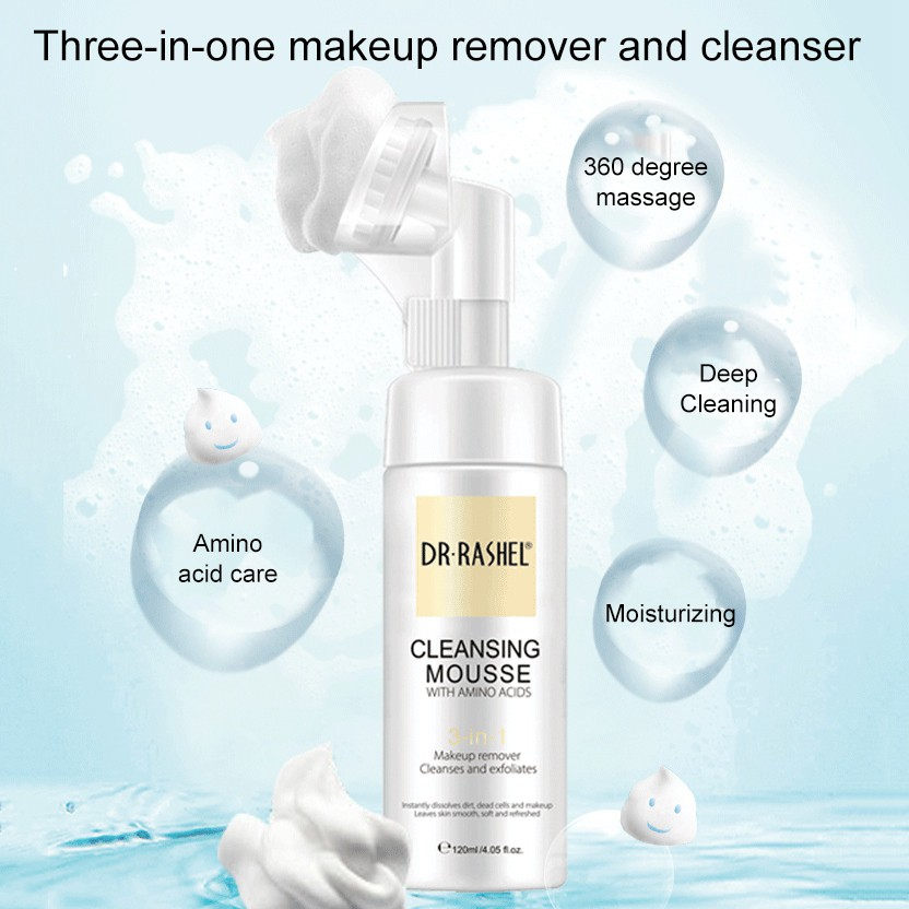 DR.RASHEL Amino Acid Cleansing Mousse Bubble Control Oil Moisturizing Deep  Nourishing Facial Cleanser | Shopee Indonesia