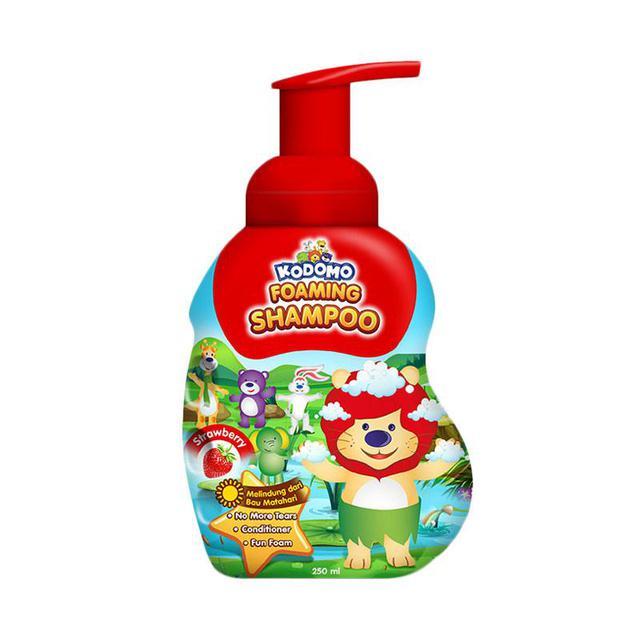 Kodomo Shampoo Foam Strawberry 250 ml - 2 Pcs-1