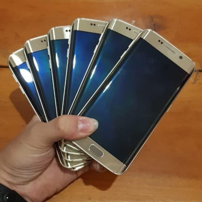 [Handphone Second] SAMSUNG S6 EDGE GALAXY SINGEL SIM MULUS MINUS SHADOW HP Bekas