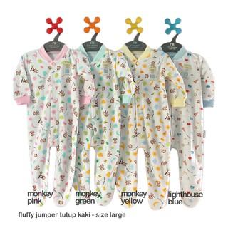 FLUFFY Size Large Jumper Panjang Baju Kodok Bayi Tutup ...