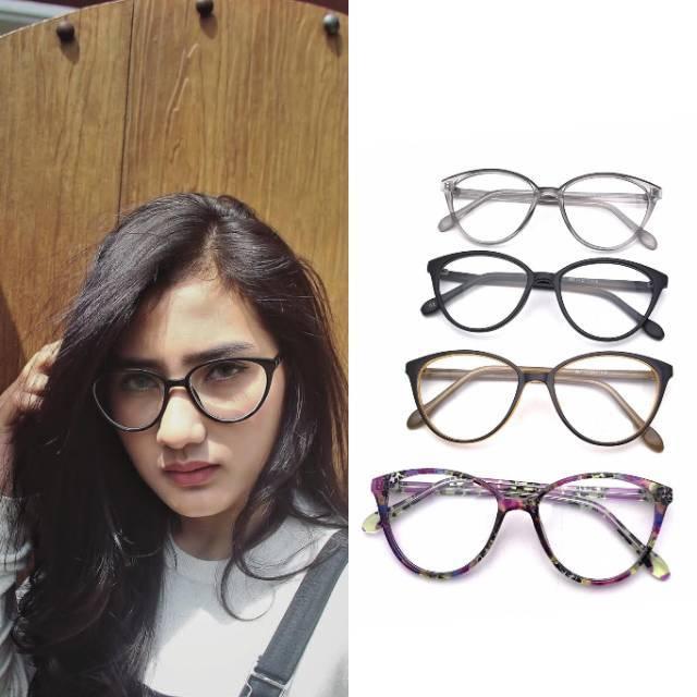 Frame kacamata 608 best seller aksesoris wanita lensa minus plus silinder  anti radiasi a6ccb39f98