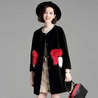 musim dingin wanita baru hitam panjang wol mantel lengan penuh. suka: