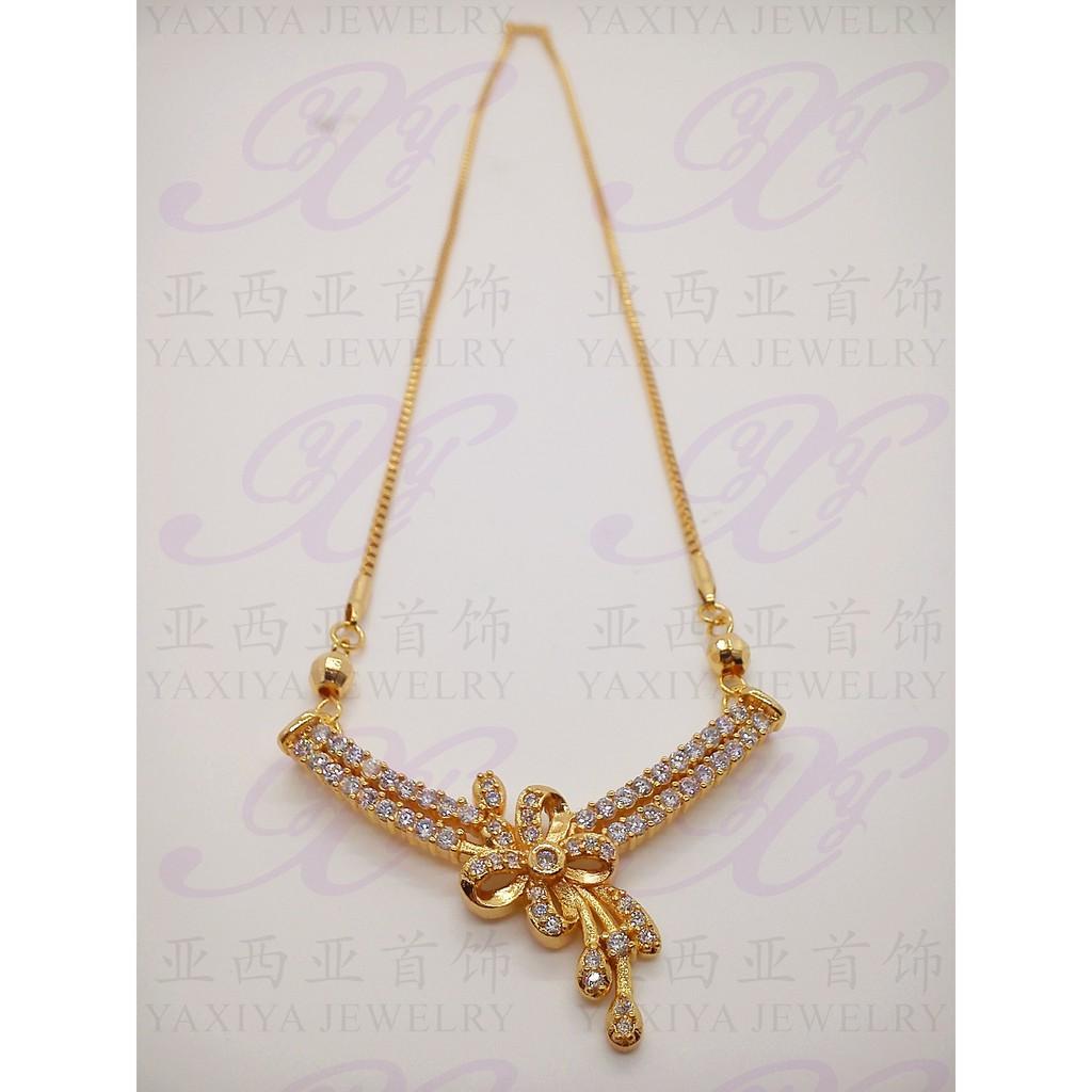 Perhiasan Kalung Emas Tiaria 24 Karat 999 Asli 3 Gram 18k Gold Necklace Top Design 30d1 Wanita Shopee Indonesia