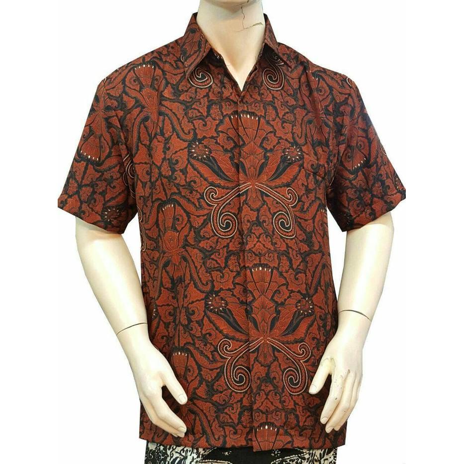 Batik Solo 4250 Kemeja Batik Pria Motif Songket Merah - Daftar Harga ... d4062a670a