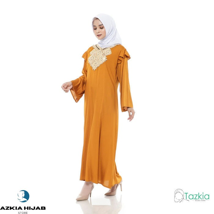 Terlaris Dress Muslim Original | Gamis Turki Kuning | Azkia Hijab Store - Kuning Real Pict