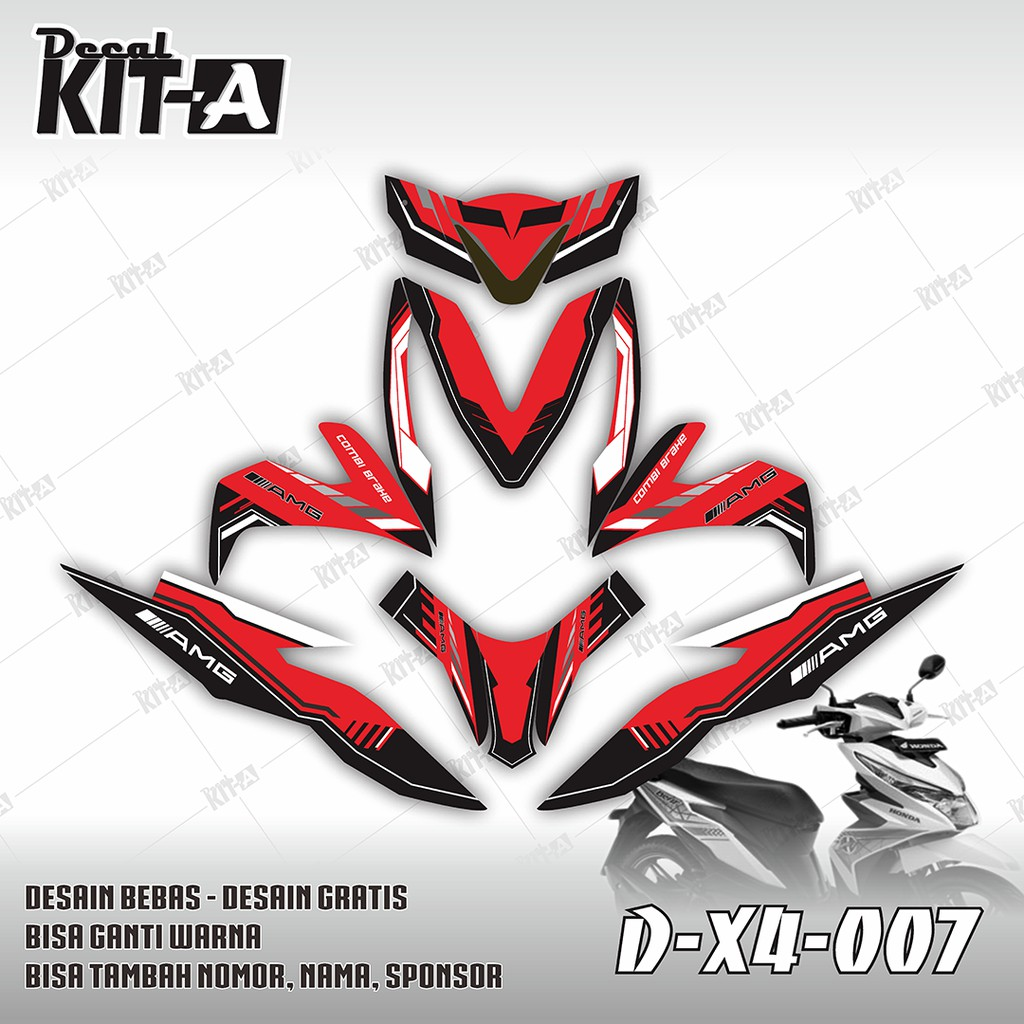 Decal stiker motor new beat street dekal striping sticker beat street shark hiu shopee indonesia