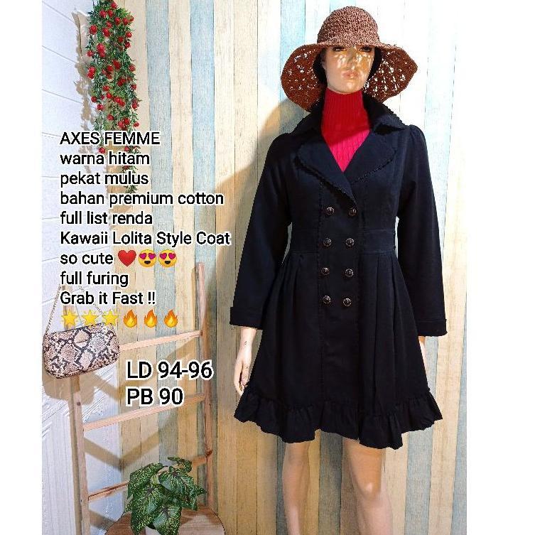 [ART. 070937] PRELOVED COAT AXES FEMME second import   coat winter coat jumbo second coat megar impo