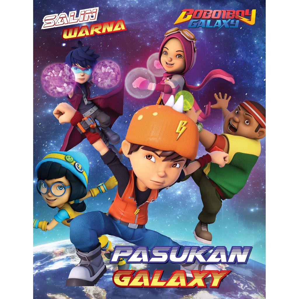 Salin Warna Boboiboy Galaxy Pasukan Galaxy Animonsta Studio