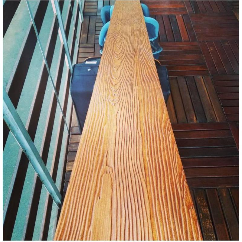 Lisplang GRC Motif Kayu Pagar & Dinding Woodplank Sudah di Cat