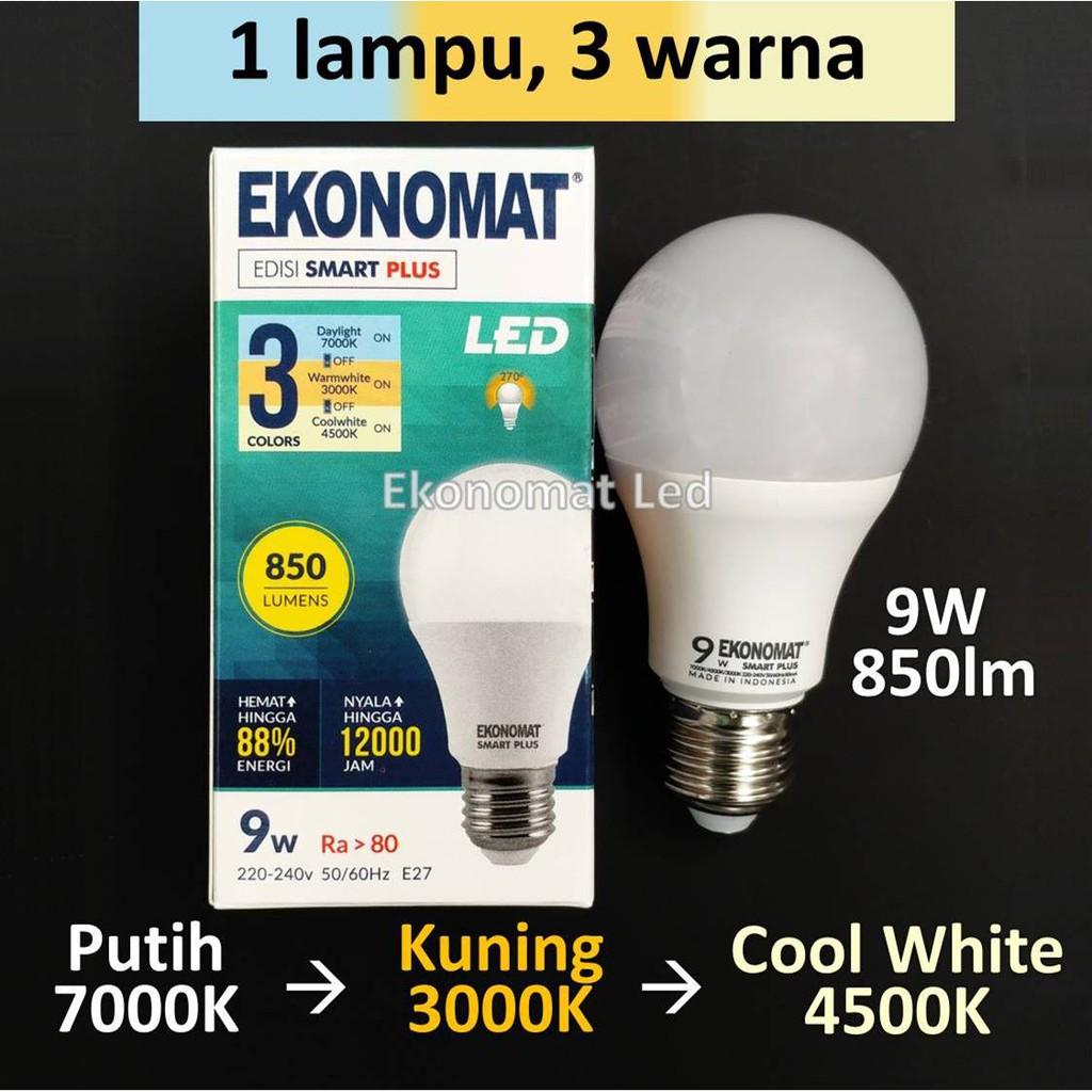 Ekonomat Smart Plus 9w 3 Warna Lampu Led Color Scene Switch Dese12 6w Aki Solar Cell Panel Surya Dc 12v Kabel Capit Bohlam Accu Emergency Shopee Indonesia