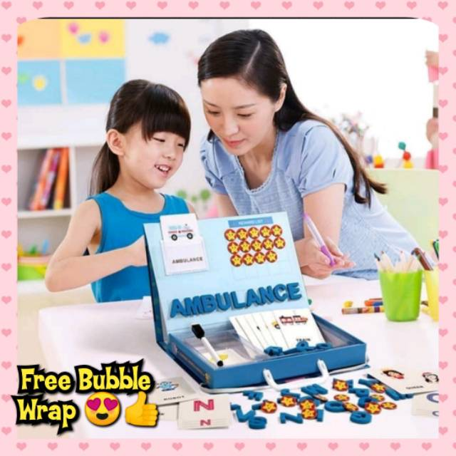 Mainan Edukasi Anak Mengenal Huruf Alphabet Puzzle Magnetic Boneka Barbie Masak Masakan Mewarna Shopee Indonesia