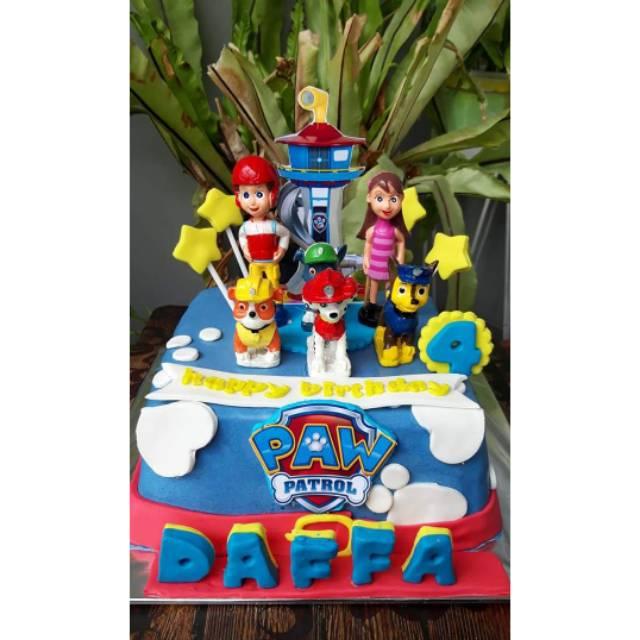 cake ultah paw patrol  kue ulang tahun paw patrol