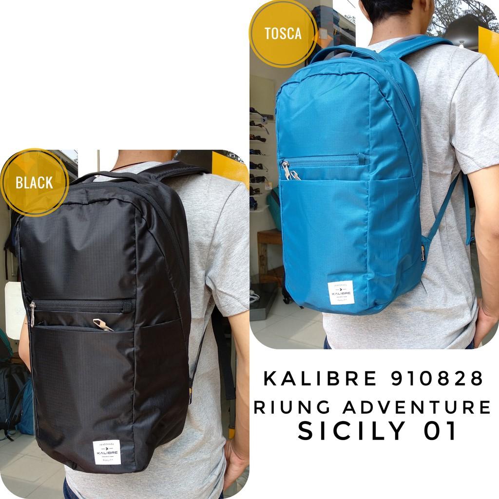 Tas Daypack Ransel Kalibre 910732 000 Horten Black New Shopee Aesthetic Backpack Hitam 910405 Indonesia