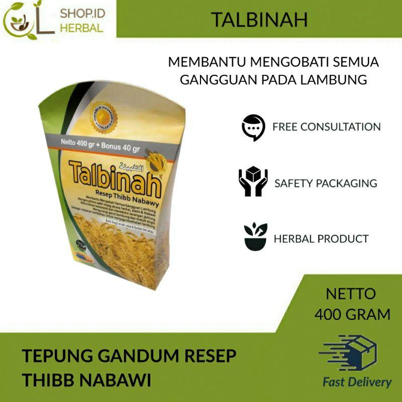 Talbinah Tepung Gandum Resep Thibb Nabawy 400gr 40gr Original Shopee Indonesia