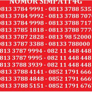 Best Seller Kartu Perdana Nomor Cantik No Telkomsel Xl Indosat Simpati As Axis