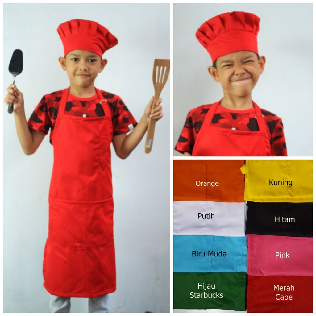 Paket 12pcs Topi Chef model Golf dengan Bordir  815947bafb