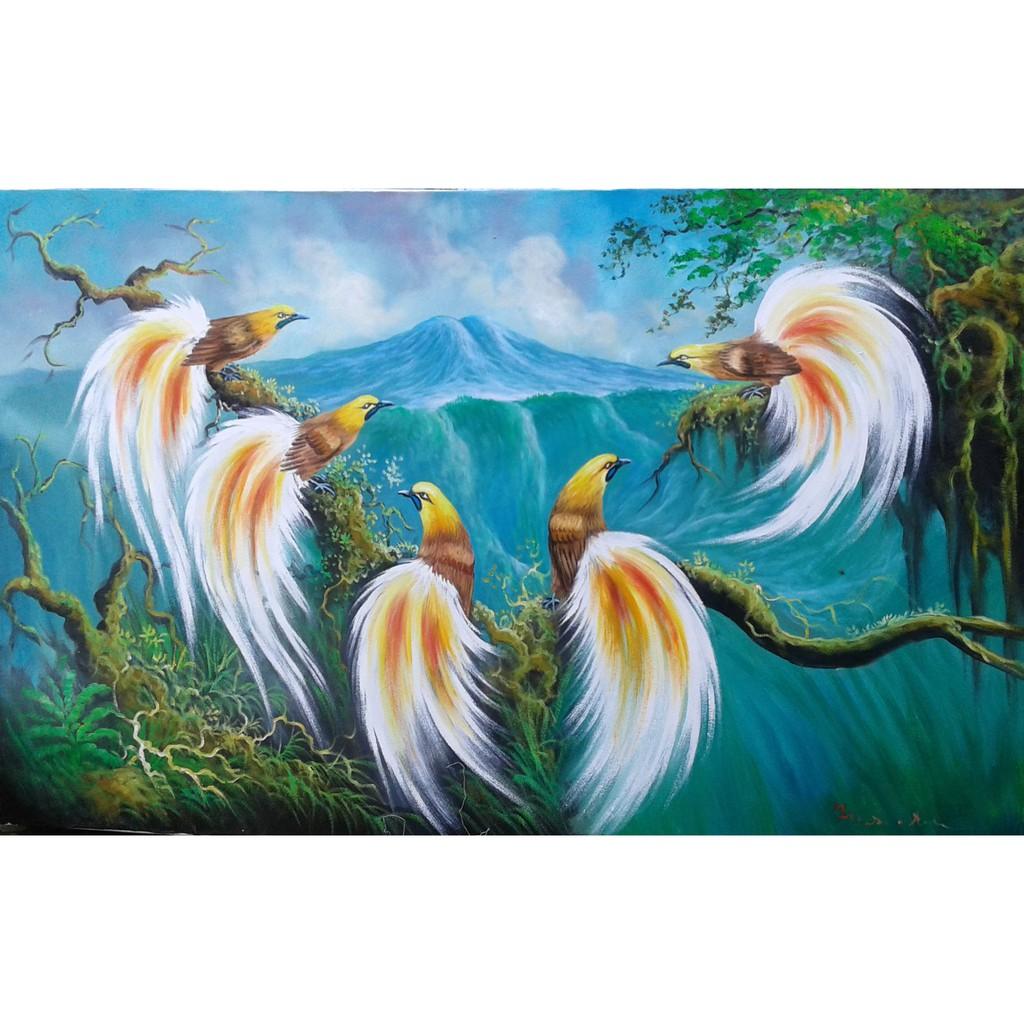 Lukisan Ayam Jantan Dan Ayam Betina Dan Betina Dan Anak Ayam