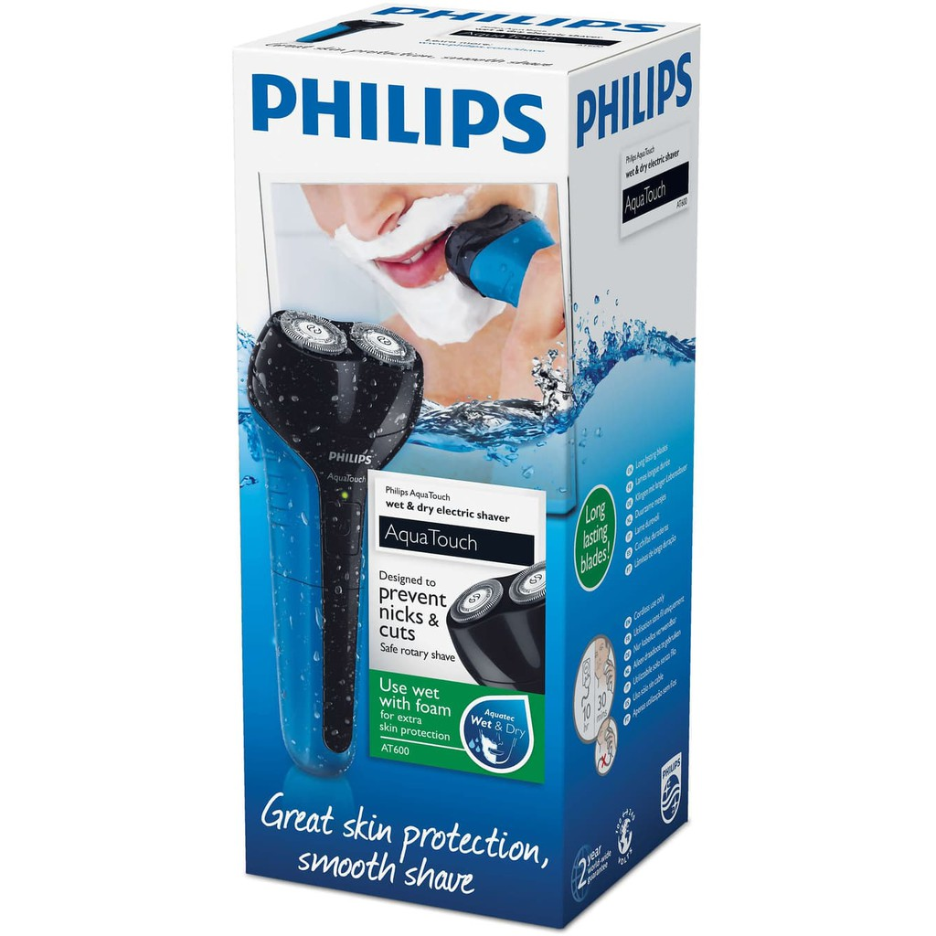 Philips Aquatouch At600 Wet Dry Rechargeable Electric Shaver Alat Pq206 Cukur Waterproof At 600 Tahan Air Shopee Indonesia