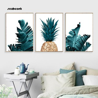 Seabeachnordic Pineapple Plant Painting Decorative Picture Home Wall Art Decor Poster