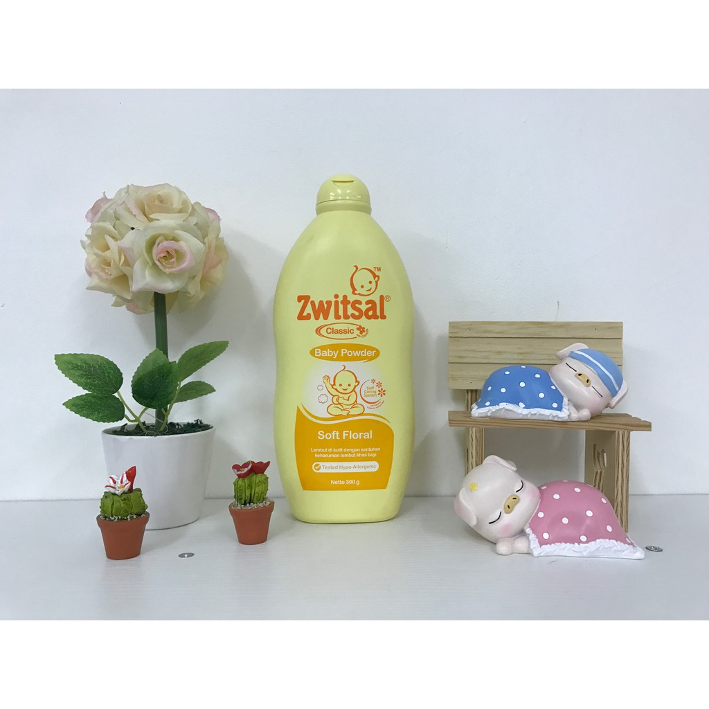 Zwitsal Baby Powder Classic Soft Floral 300gr Twin Pack Shopee Kids Bath Beauty Pink Pump 280ml Indonesia