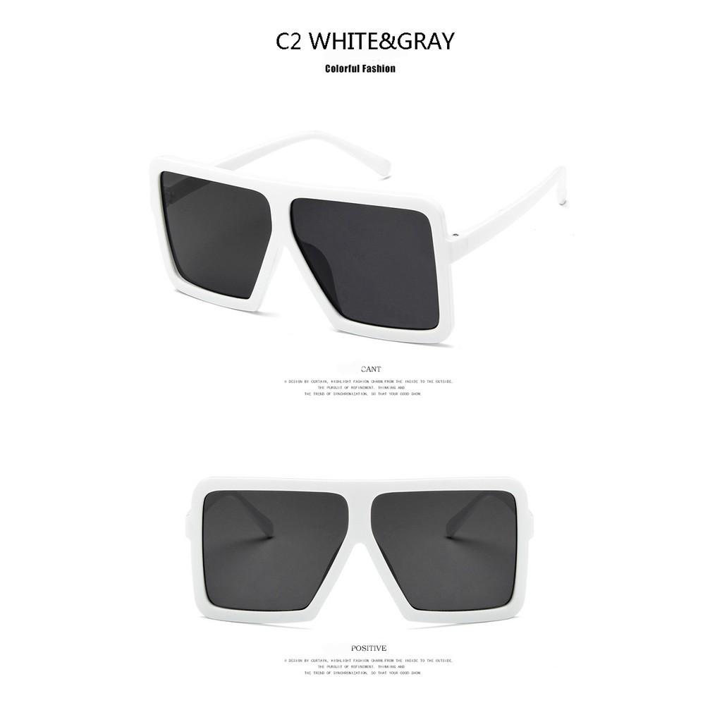Square Sunglasses Men Designs Mirror Photochromic Oversized Polycarbonate Lenses