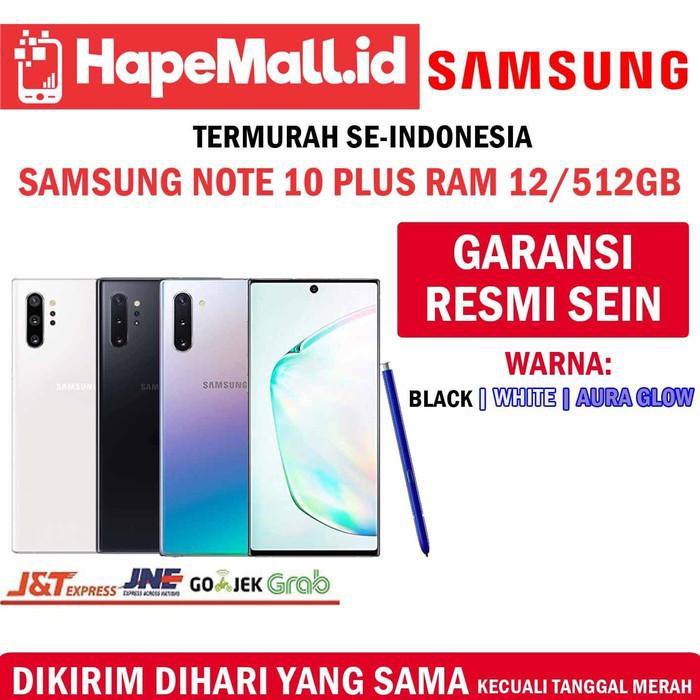 [Tablet] SAMSUNG NOTE 10 PLUS RAM 12/512GB GARANSI RESMI SEIN TERMURAH - Putih