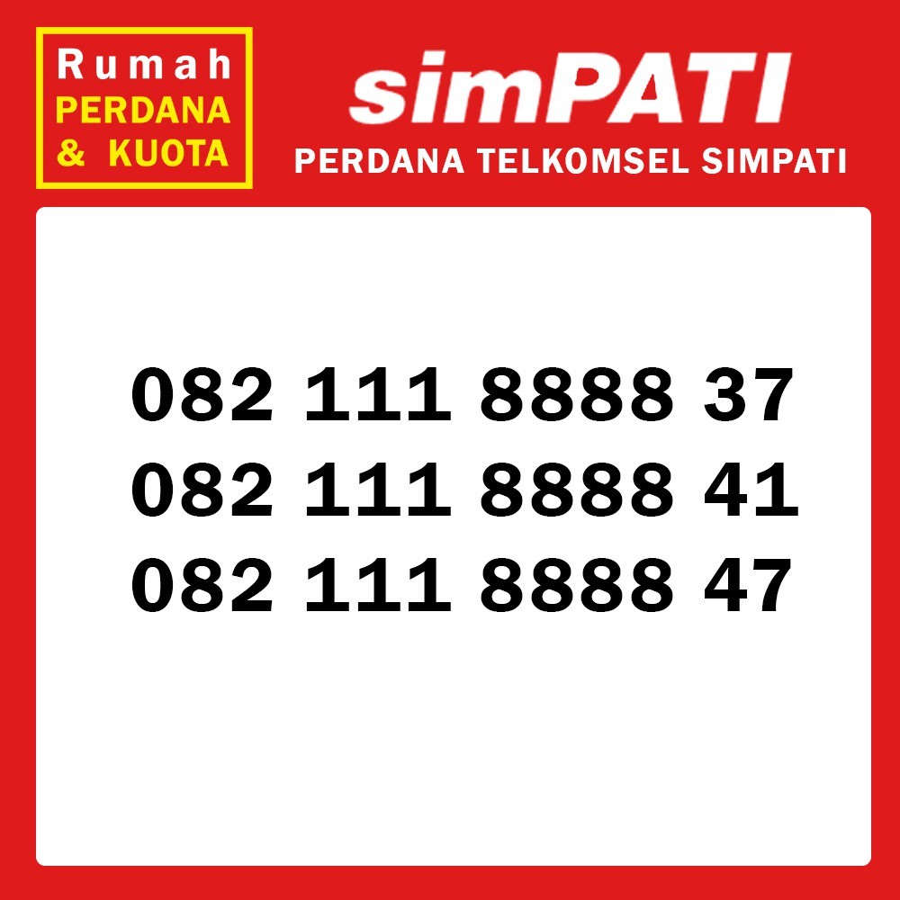 Perdana Nomor Cantik Telkomsel Loop 4G kwartet 2 0822 35 2222 xx   Shopee Indonesia