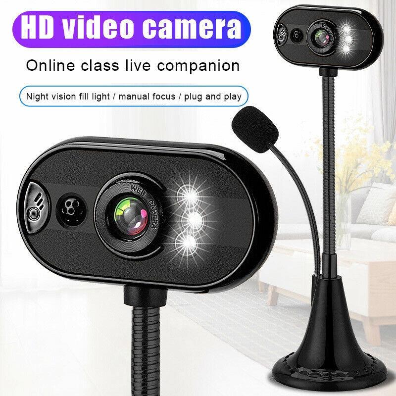 Webcam Usb Hd Dengan Night Vision Untuk Rumah Kantor Shopee Indonesia