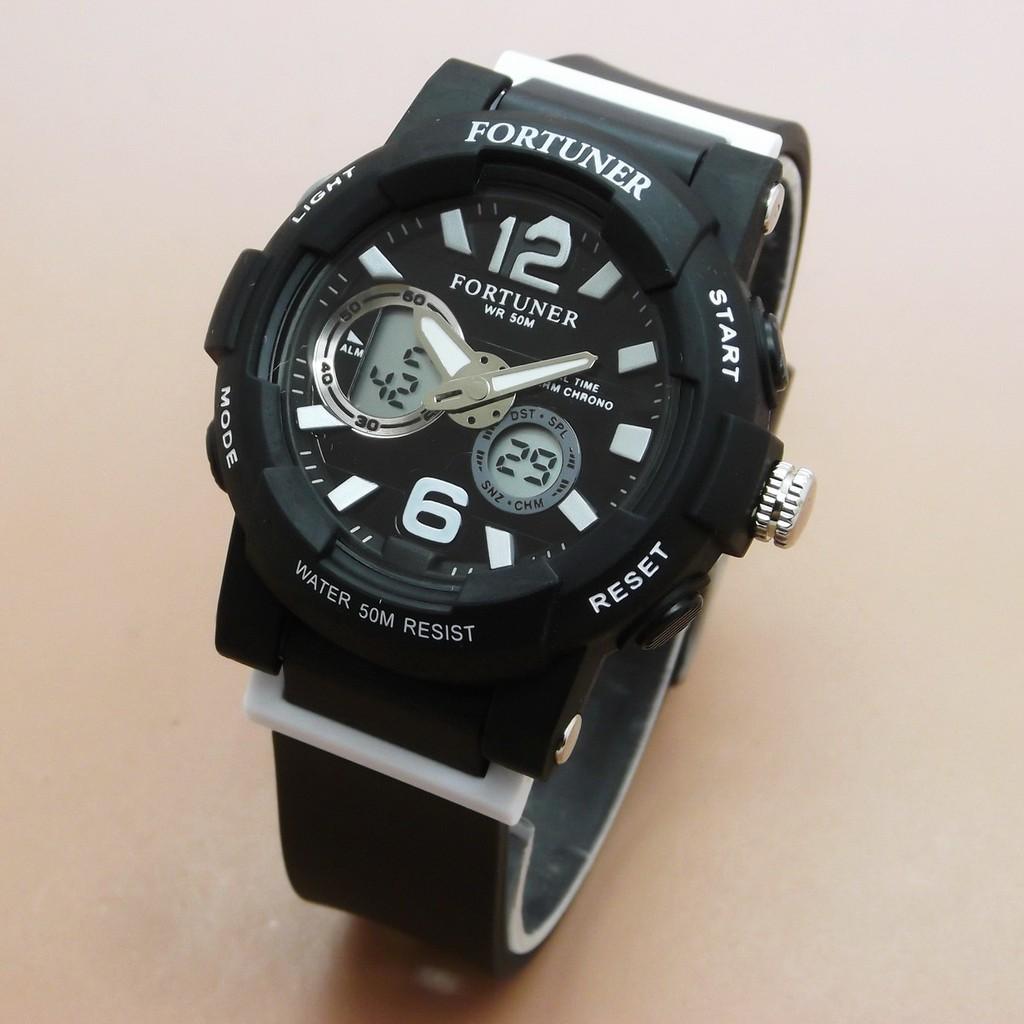 Hot Sale Jam Tangan Wanita Fortuner J-908AD Original (Black White ... 742764992e