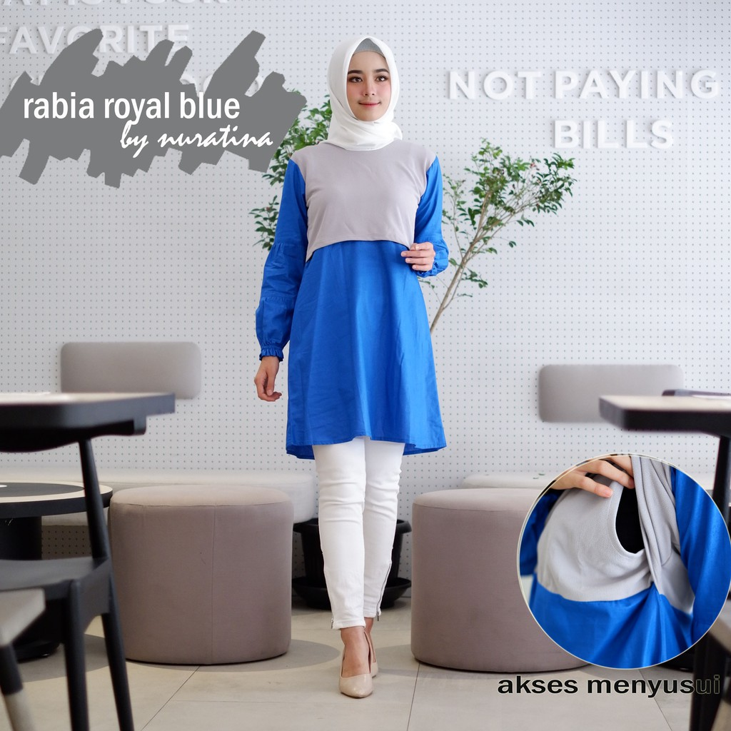 Hava Navy Blue Baju Menyusui Shopee Indonesia Just Mom Sania Butterfly Sn114