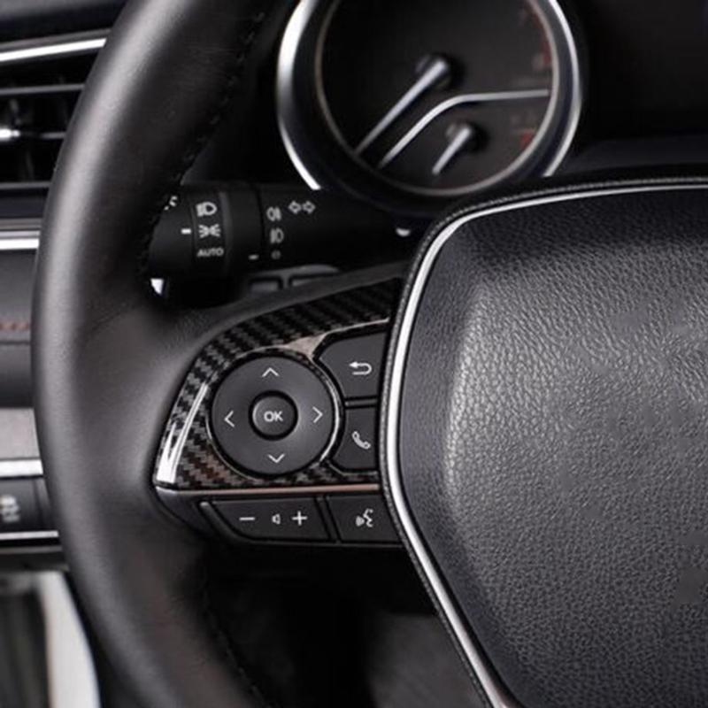 Trim Carbon Fiber Steering 3pcs Fit for Toyota Corolla Hatchback 2019 Wheel Car