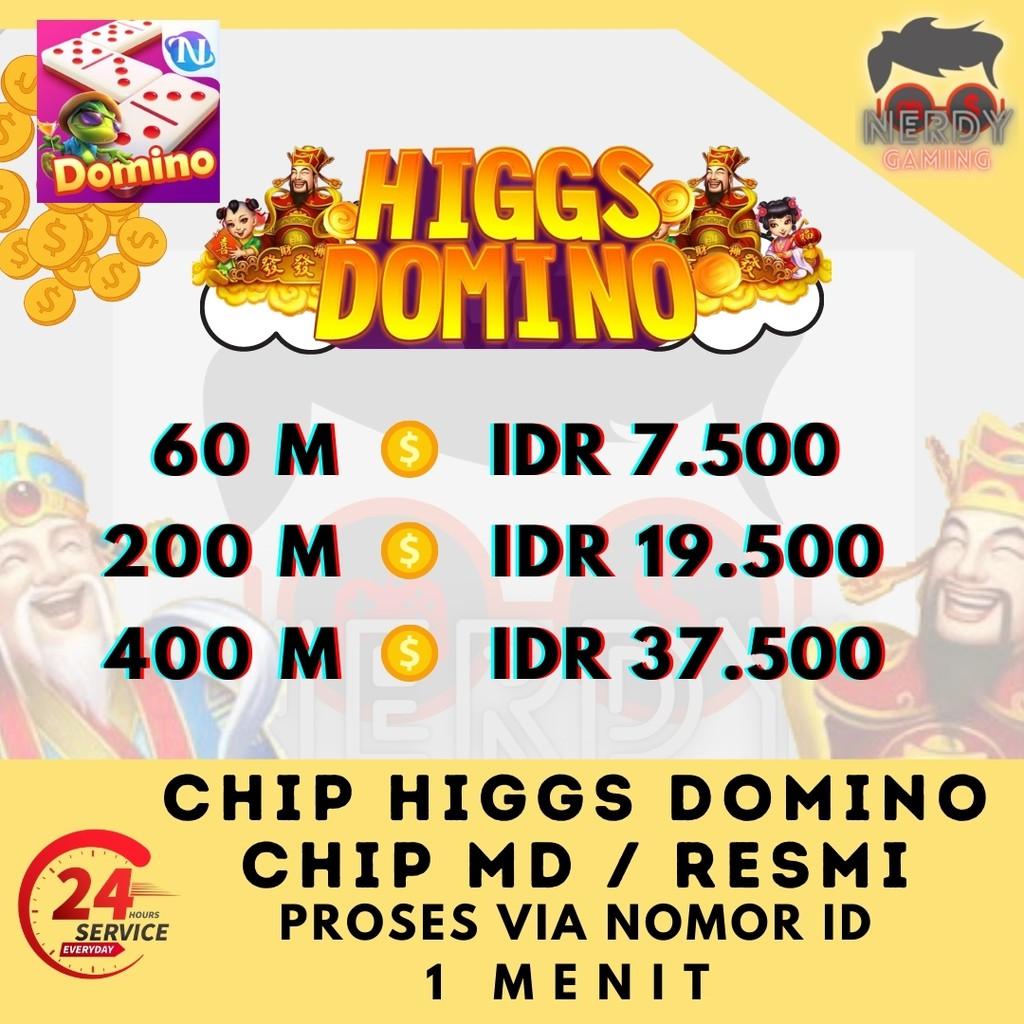 Promo Super Chip Higgs Domino - Koin Ungu MD Domino - Chip MD Domino - MD Higgs Domino Top up Cepat