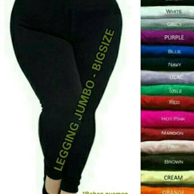 Fashion Wanita Bawahan Celana Legging Untuk Ukuran Jumbo Bigsize Fuchsia Shopee Indonesia