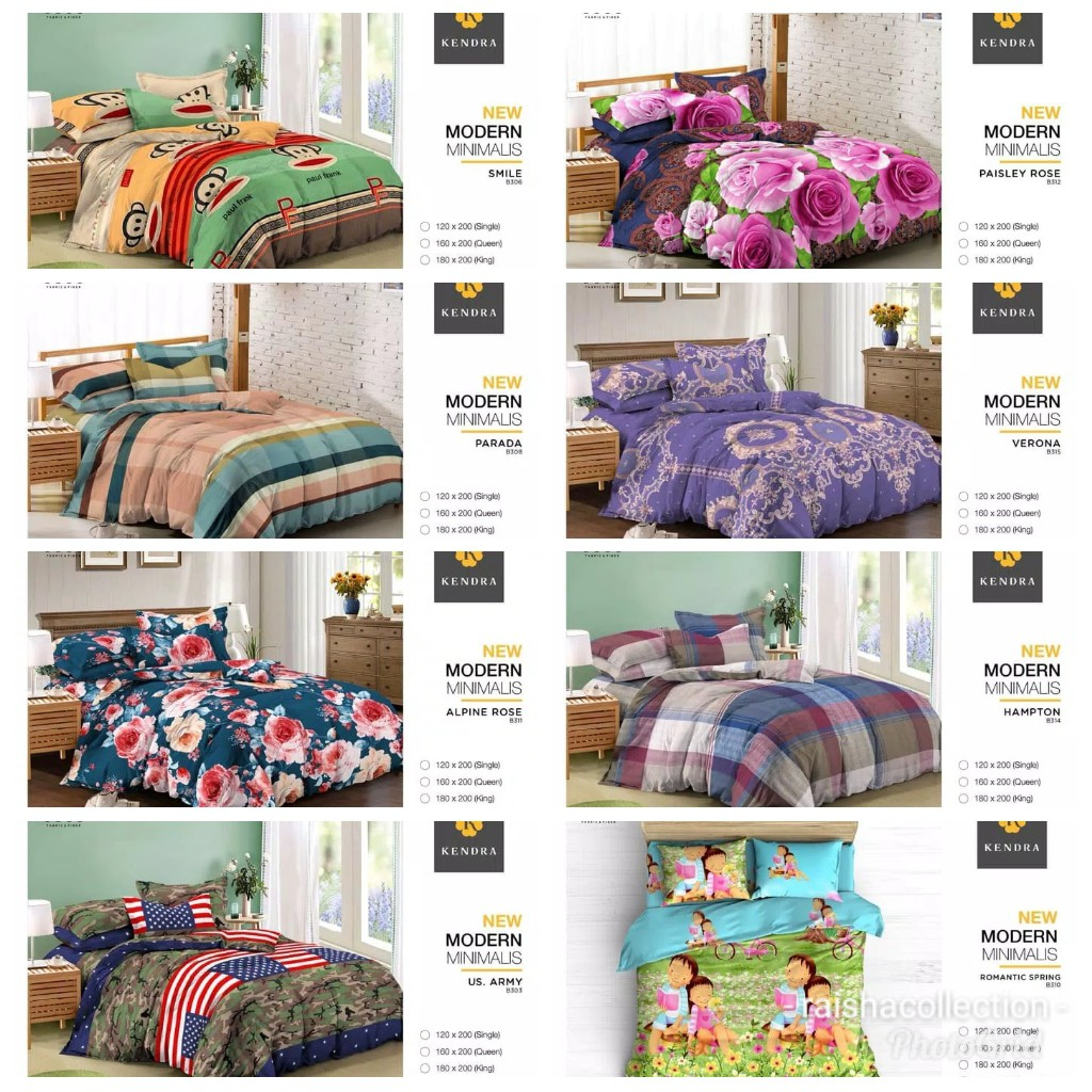Sprei Kendra 120 Smile Shopee Indonesia Royals Disperse Sunny Uk 160 T20