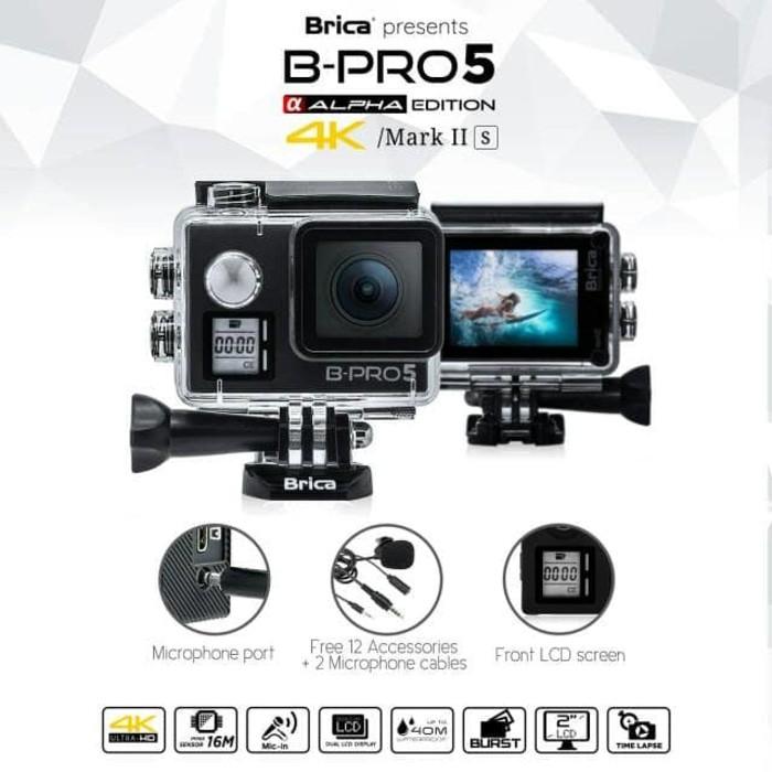 Paket - Brica B-Pro 5 Alpha Edition 4K Mark II S - AE2S Black 2 Inch LCD Garansi Resmi & Monopod | Shopee Indonesia