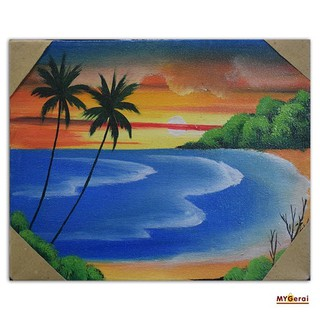 91 Lukisan Pemandangan Pantai Mudah Terbaik