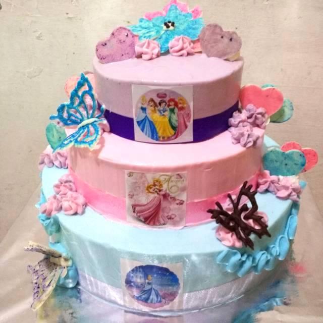 Kue Ulang Tahun 3 Tingkat 3 Tier Cake
