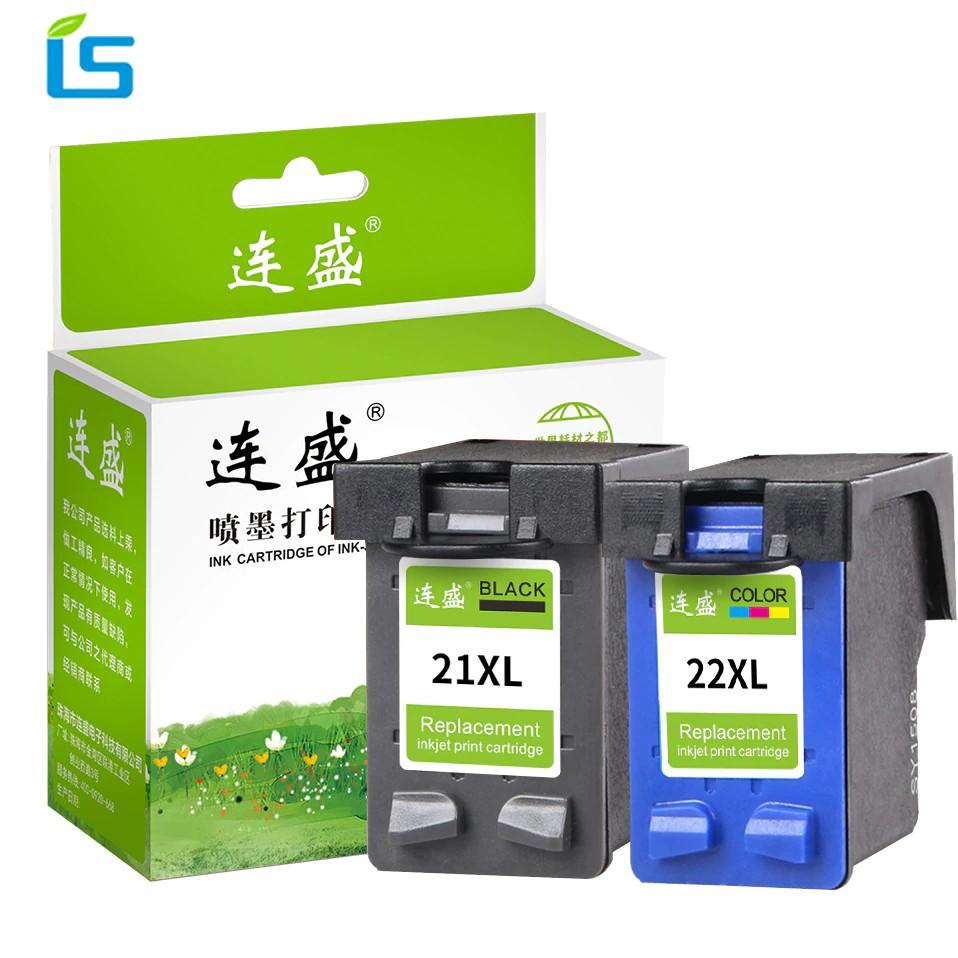 Black Color Ink For HP 21//22 Deskjet D1430 D1445 D1455 Officejet J3608 J3625