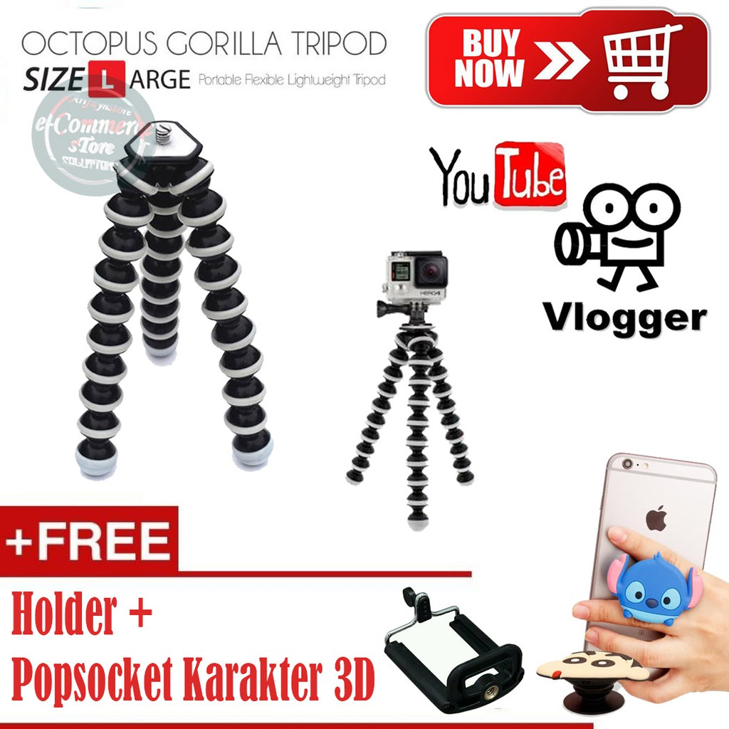 Tripod Mini Yunteng YT228 + Holder U / tripod selfie yt 228 | Shopee Indonesia