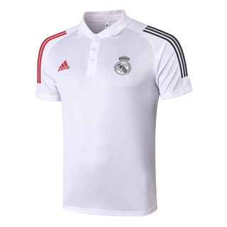 Real Madrid 2021 Top Quality Football Polo Shirt And Pants Kit White Men S Sport Wear Jersey Shopee Indonesia