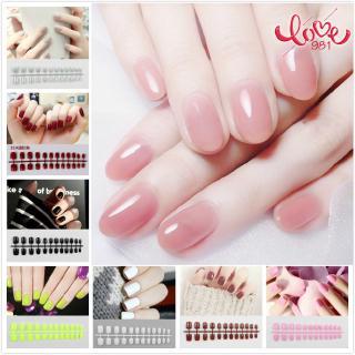 COD 24 pcs kuku Fake nail art tips matte nude coffin ballerina square shape press fake full cover nails thumbnail