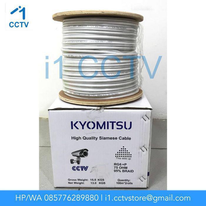 Kabel Cctv / Kabel Cctv Kyomitsu Rg6+Power (1 Roll 100M)
