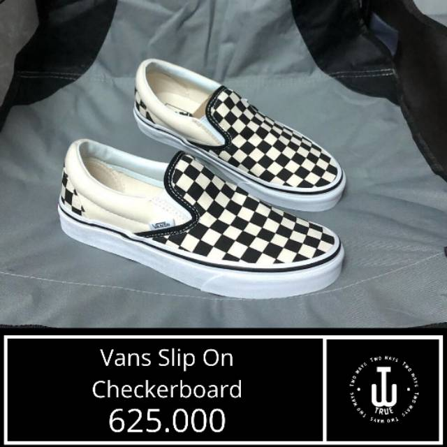 Sepatu Vans Original Vans Slip On Checkerboard Global Market