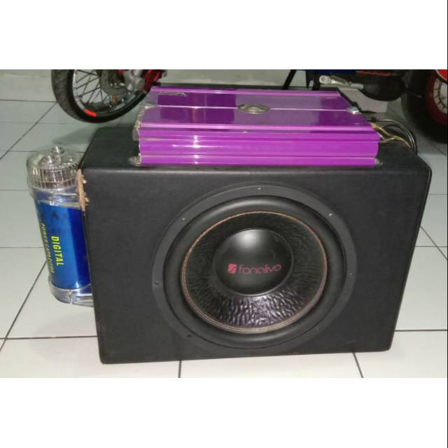 Car Sound Systems >> 1 Set Car Speaker Sound System 1 Subwover 2 Power