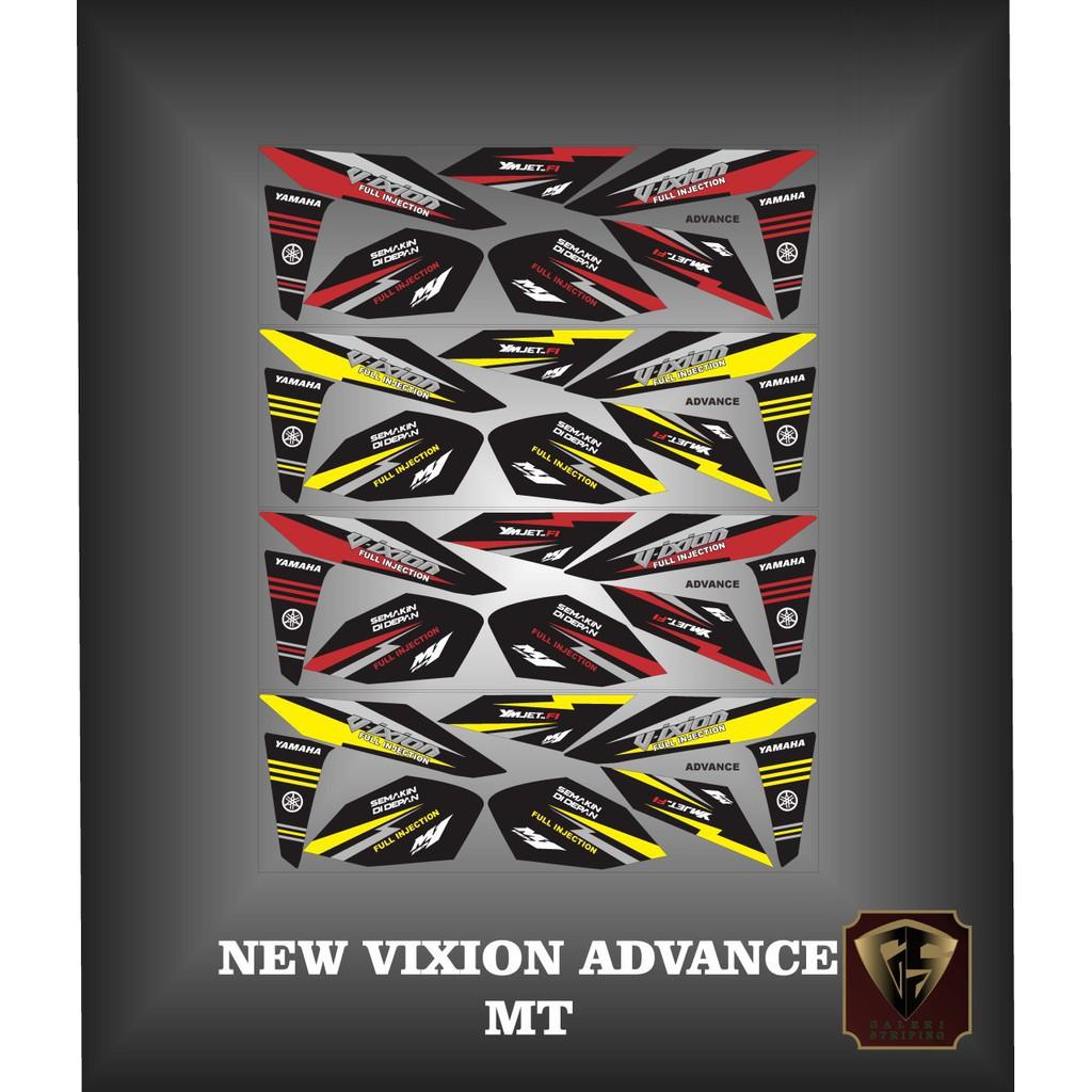 Stiker striping list motor new vixion Advance | Shopee Indonesia
