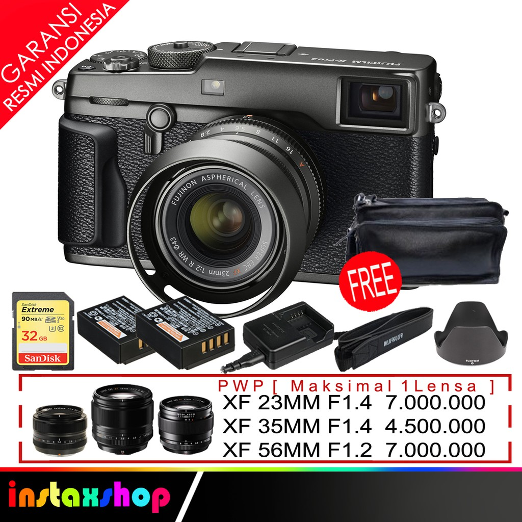 Fujifilm X Pro2 Kit Xf23mm F2 Black Instax Share Sp 2 Shopee T2 Body Pwp Xf 23mm F 14 Indonesia