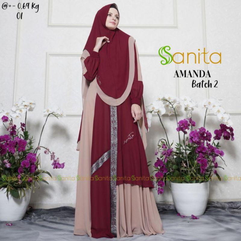 SANITA / AMANDA SYARI 3 BY SANITA / GAMIS SYARI SANITA / GAMIS AMANDA SANITA