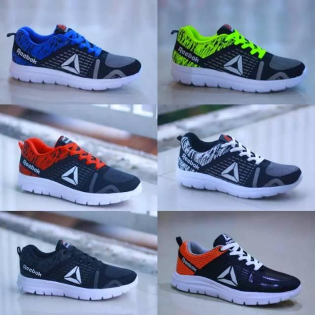 Sepatu Reebok New Safloni Import Trend Terbaru Sneakers Pria